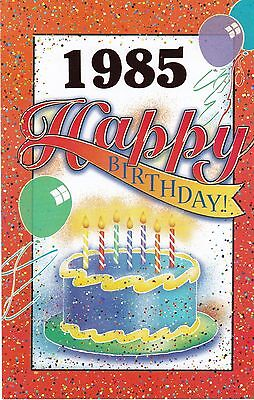 Birthday Card with Envelope 1985 Year of Birth