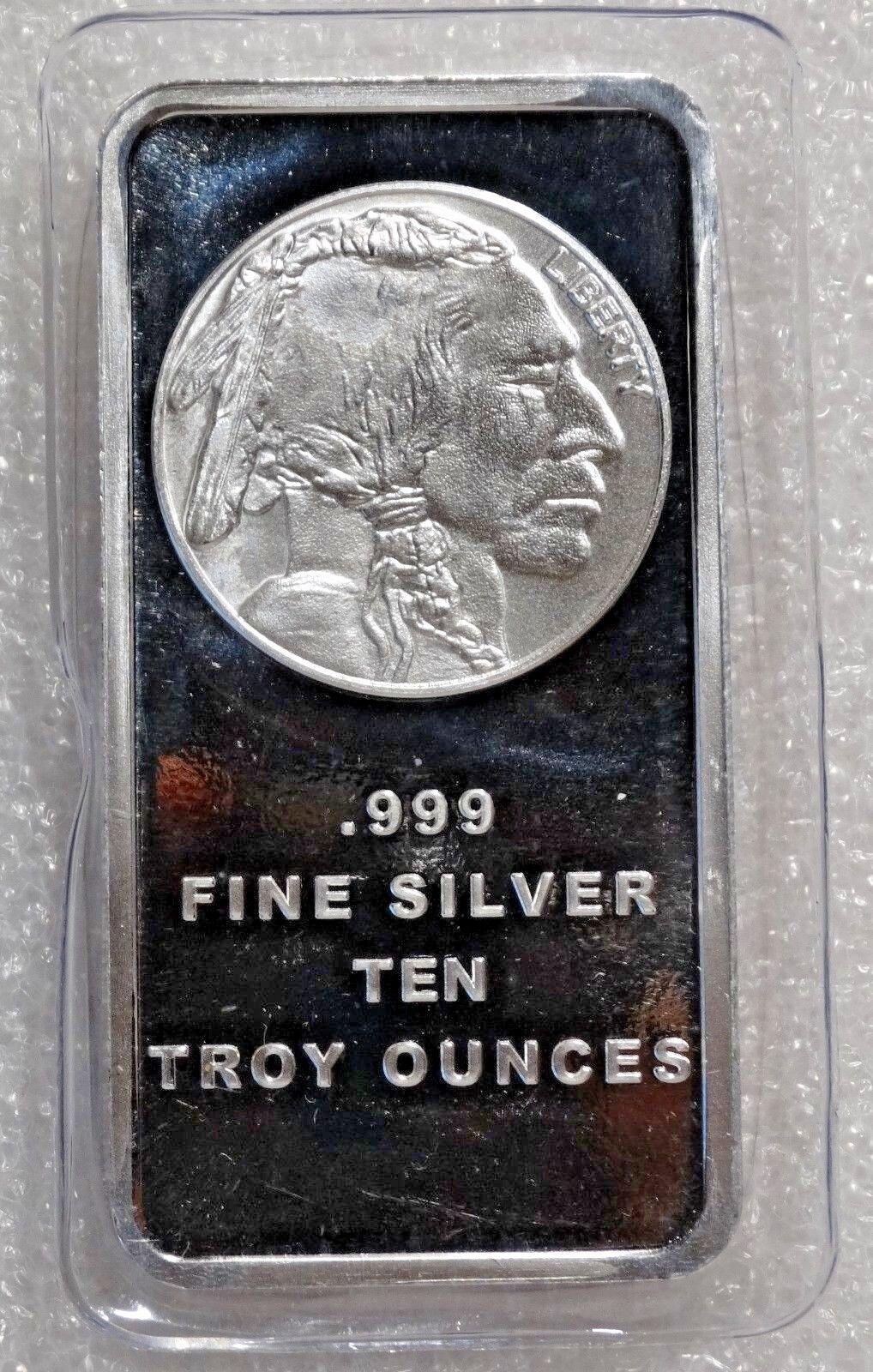 Купить 10 Troy oz Buffalo .999 Fine Silver Bar