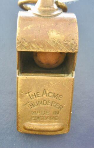 FOUR STEEL/BRASS WHISTLES - ACME THUNDERER, NOBLE