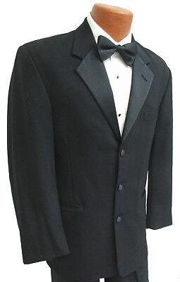 Men's Black Perry Ellis Tuxedo Jacket Discount Cheap Sale Clearance Mason Prom - Cheap S