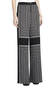 NEW BCBG MAX AZRIA LONDON HIGH-WAISTED WIDE-LEG FRL2E694/M212 PANTS SIZE XS