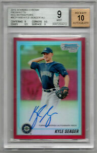 2010 Bowman Chrome Prospects Kyle Seager Red Refractor auto BGS 9 #d/5