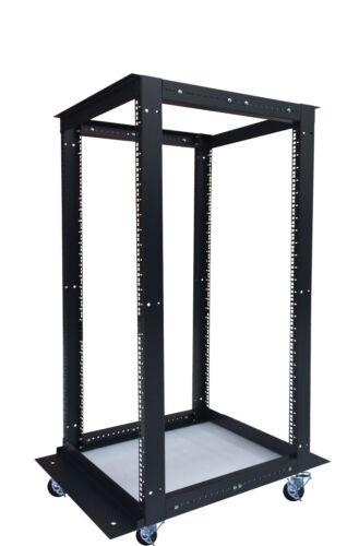 18U IT 4 Post Open Frame Network Server Rack Enclosure 24