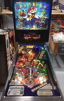 1992 SUPER MARIO BROS PINBALL MACHINE LEDS NICE PLAYFIELD PLAYS GREAT