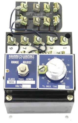 Square D 9050EO-3 Transistorized Timing Relay 120V 50/60Hz