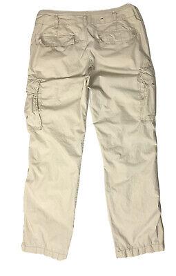 Polo Jeans Company Ralph Lauren Lightweight Cargo Pants Tag Sz 36x32 ~ Beige