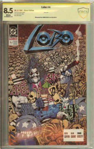Lobo #4 1991 CBCS (not CGC) 8.5 Signed Simon Bisley