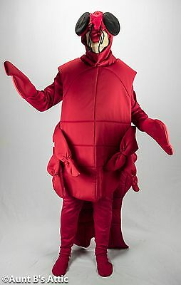 Lobster Costume Adult Red 6 Piece Body Shirt Tights Mitts & Headpiece Large](Lobster Costumes)