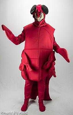 Hummer Kostüm Erwachsene Rot 6 Stück Körper Hemd Strumpfhose Handschuhe &