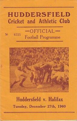 Huddersfield v Halifax 1960/1 (27 Dec)