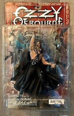 OZZY OSBOURNE - McFarlane Action Figure (1999 NEW / SEALED IN PACKAGE / BLACK SA