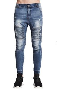 Men's Nena & Pasadena Destroyer Elastic Ankle Jeans (size 30) Tarrawanna Wollongong Area Preview