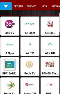 TURKISH TV INTERNET TV MEDIA PLAYER