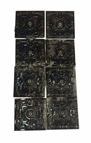 Antique Brown Decorative Raised Wall Tile Set
