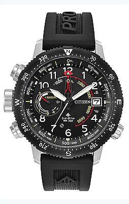 Citizen BN5058-07E Men's Eco-Drive Promaster Altichron Black Rubber Watch