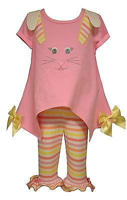 Bonnie Jean Toddler Baby Girls Spring Holiday Easter Bunny Capris Set 2T 3T 4T