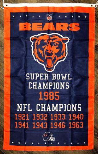Chicago Bears NFL Super Bowl Championship Flag 3x5 ft Vertic