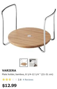 2 Variera plate holders from Ikea