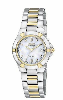 (Citizen Eco-Drive Women's EW1534-57D Riva Two-Tone Bracelet 26mm Watch)