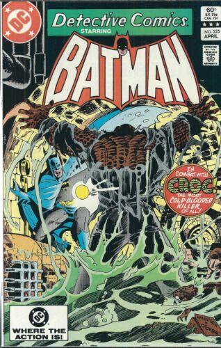 """DETECTIVE COMICS W/ BATMAN """"THE CROC"""" #525 (1983) DC COMICS V/F+"""