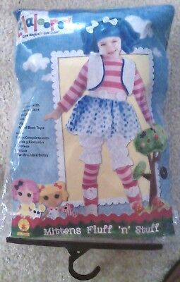 Girls Costume Mittens Fluff n Stuff Size Toddler 3T-4T New (Halloween-lalaloopsy)