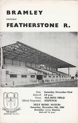 Bramley v Featherstone Rovers 1969/70 (22 Nov)