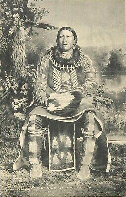 EAGLE CHIEF ~PONCA INDIANS - OKLAHOMA~ Historic Old Postcard, 1909