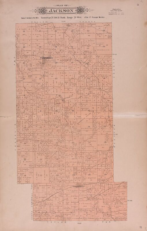 1904 Atlas GREENE COUNTY plat maps MISSOURI old GENEALOGY history Land DVD P116