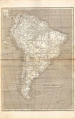 1809 ANTIQUE MAP- ARROWSMITH- SOUTH AMERICA