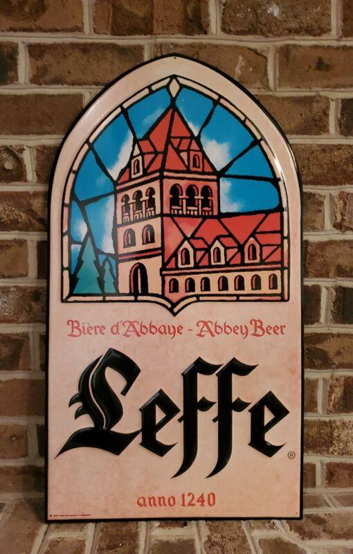 2004 Leffe Belgian Beer Large Metal Bar Restaurant Tin Sign