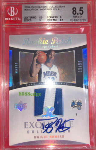 2004-05 Exquisite Auto Patch Rc #90:dwight Howard #/99 Rookie Card Autograph Bgs