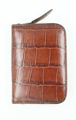 """Vtg Raika Brown Leather 4"""" x 5.5"""" Device Case for Palm, Etc."""
