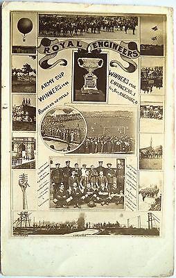 ROYAL ENGINEERS F.C. 1906 – ORIGINAL VINTAGE FOOTBALL POSTCARD