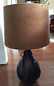 Lamps with lamp shade - matching set of 2