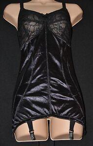 So silky soft stretchy open bottom girdle (OBG) / corselet, BN, 44C, Black CD/TV