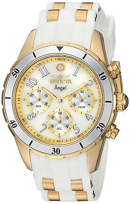 Invicta Mujer Pulsera Reloj Oro Woman Watch White Gold Steel Crystal Hand Band (Watches Women Pulsera)