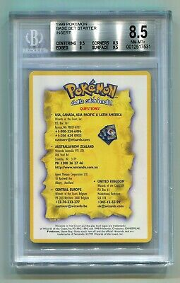 Pokemon Wizards WOTC UK 1999-2000 Theme Deck Insert Card Questions? BGS 8.5 NM