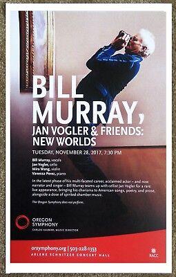 BILL MURRAY & JAN VOGLER 2017 Gig POSTER Portland Oregon Concert