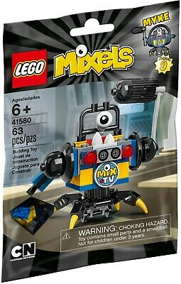 📺 🎥 New Sealed Lego Cartoon Network Mixels Series 9 Myke Newzers 41580