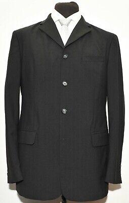 BEAUTIFUL DOLCE GABBANA D&G BLACK FOUR BUTTON SUIT 44 LONG 36 W 54 IT Four Button Single Breasted Suit