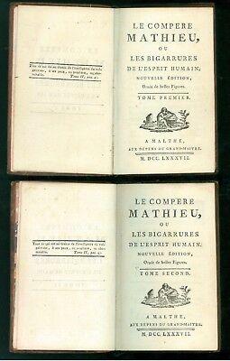 DU LAURENS JOSEPH LE COMPERE MATHIEU OU LES BIGARRURES MALTHE GRAND MAITRE 1787