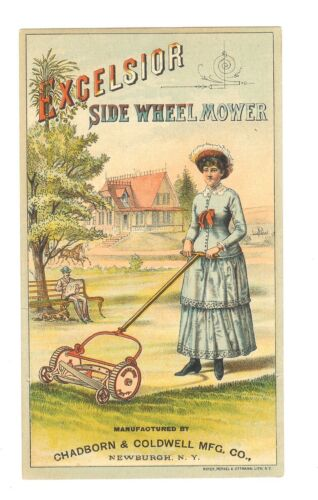 X-TRADE CARD-EXCELSIOR SIDE WHEEL MOWER-CHARDBORN&COLDWELL MFG. CO..-TC-022