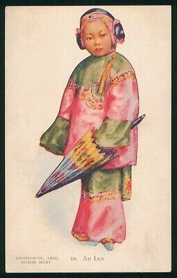 Mayfairstamps Art Girl in Costume Postcard wwo_64691