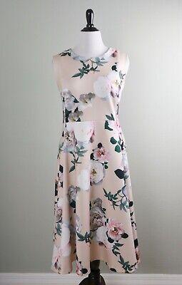 CALVIN KLEIN $129 Scuba Stretch Gorgeous Floral Flared A-Line Dress Size 20W