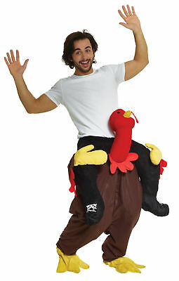 Riding Turkey Trot Piggyback Adult Costume Funny Halloween Thanksgiving - Funny Thanksgiving Costumes