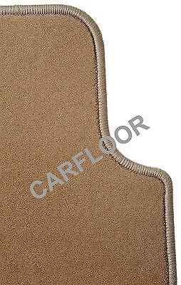 Für Mercedes  SL R 230 Bj. 10.01-02.12  Fußmatten Velours  Deluxe savannenbeige