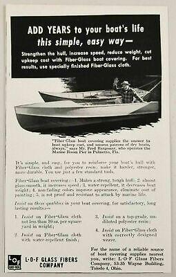 1955 Print Ad L-O-F Glass Fibers Company Boats Toledo,Ohio