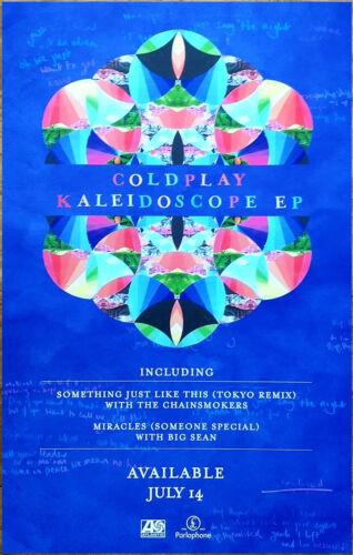 COLDPLAY Kaleidoscope EP Ltd Ed New RARE Tour Poster +BONUS Rock Alt Pop Poster!