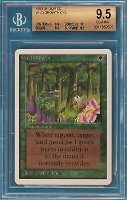 Wild Growth Unlimited Common Graded BGS 9.5 GEM MINT CARD (0011869505) ABUGames