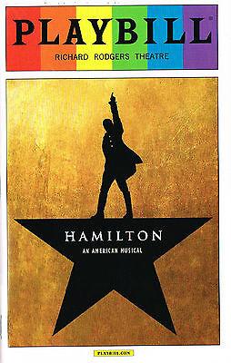Hamilton Playbill from Performance After Tony Award Win June 14 2016 Lin Miranda